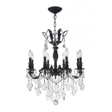 06 Flemish Finish - Versailles Collection 8 Light Flemish Brass Finish with Clear Crystal Chandelier