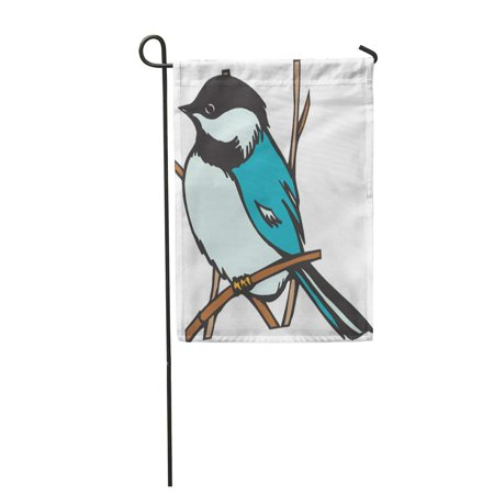 SIDONKU Blue Bird Chickadee Finch Alive Birdie Branch Chick Garden Flag Decorative Flag House Banner 12x18 inch