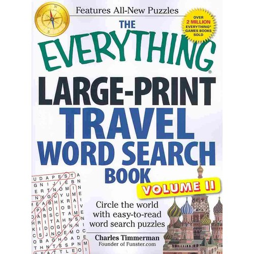 The Everything Travel Word Search Book: Circle the world with easy-to-read word search puzzles