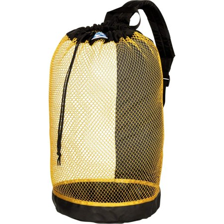 Snorkeling Gear Backpack - B.V.I. Mesh BackPack Perfect for Snorkeling Gear All Colors Snorkel Scuba Dive Diving Diver Beach Gear Boat Boating Sail Boat Sailing Travel Tote, YELLOW, Extra tough.., By Stahlsac