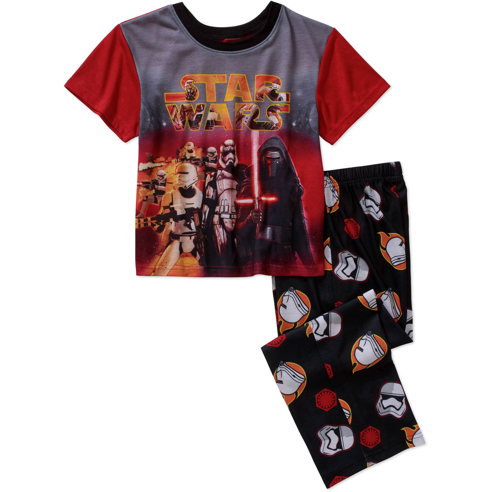 Star Wars Boys' Licensed Polyester Pajama Sleepwear Set