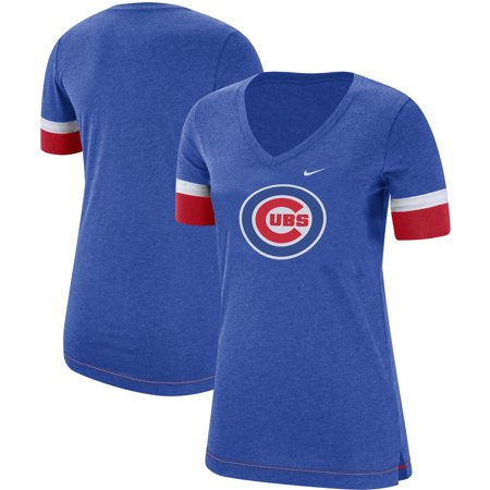timeless design a7f5a 51b7b Chicago Cubs Nike Women's Mesh V-Neck T-Shirt - Royal - Walmart.com
