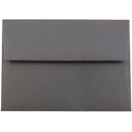 JAM 4Bar A1 Envelopes, 3.625x5.125, Dark Grey, 1000/Carton Gray 1000 Envelopes
