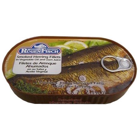 Smoked Herring Fillets (RugenFisch) 6.7 oz (190g)
