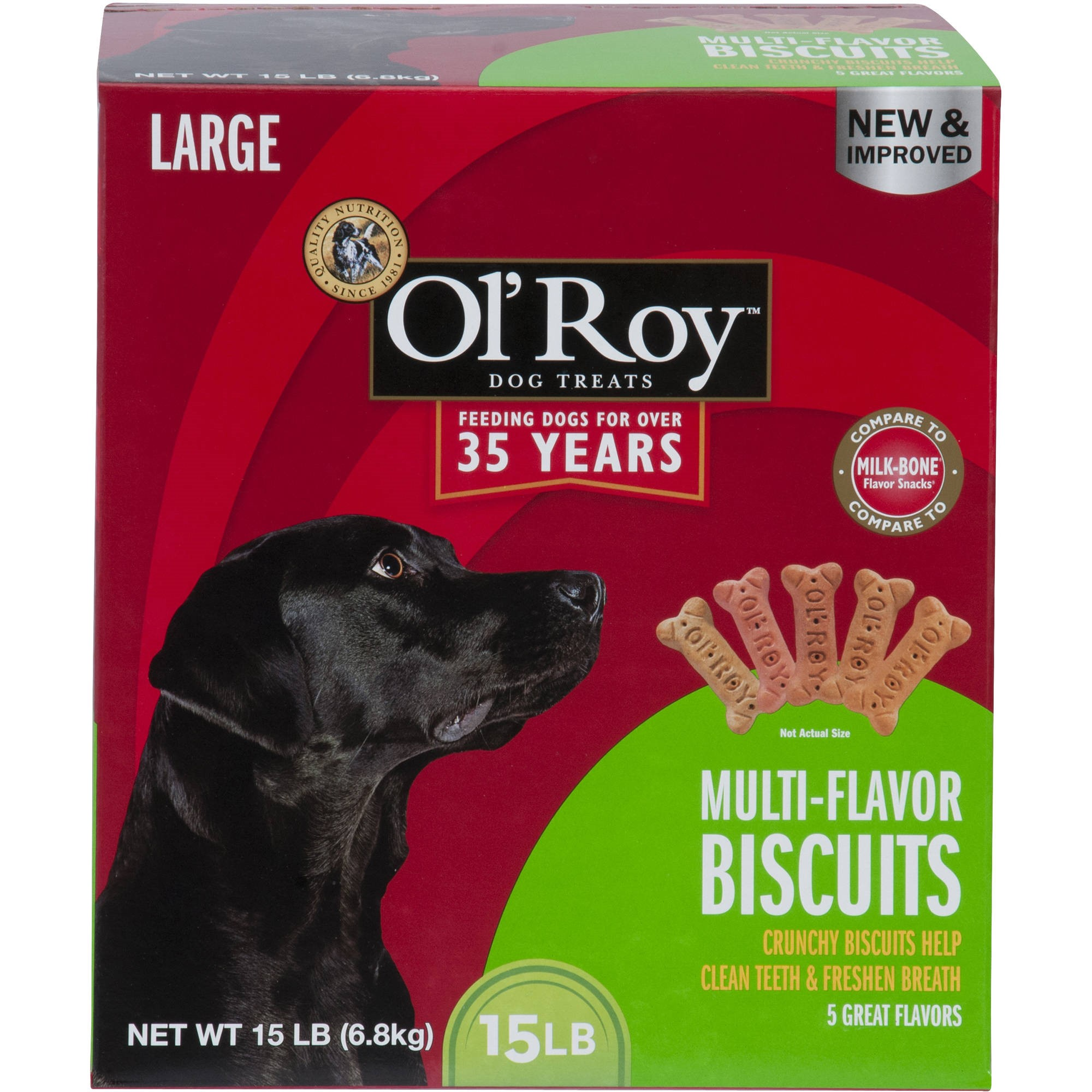 Ol' Roy Multi-Flavor Biscuits, Large Breed, 15 lb