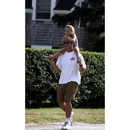 Arnold Schwarzenegger and his daughter at The Kennedys Weekend in Hyannisport Photo