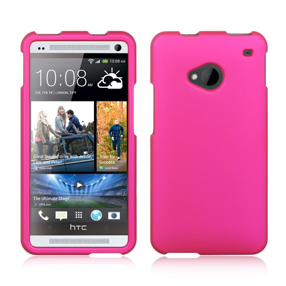 HTC One M7 Case, by Insten Rhinestone Diamond Bling Hard Snap-in Case Cover For HTC One M7 - Hot Pink - image 3 de 3