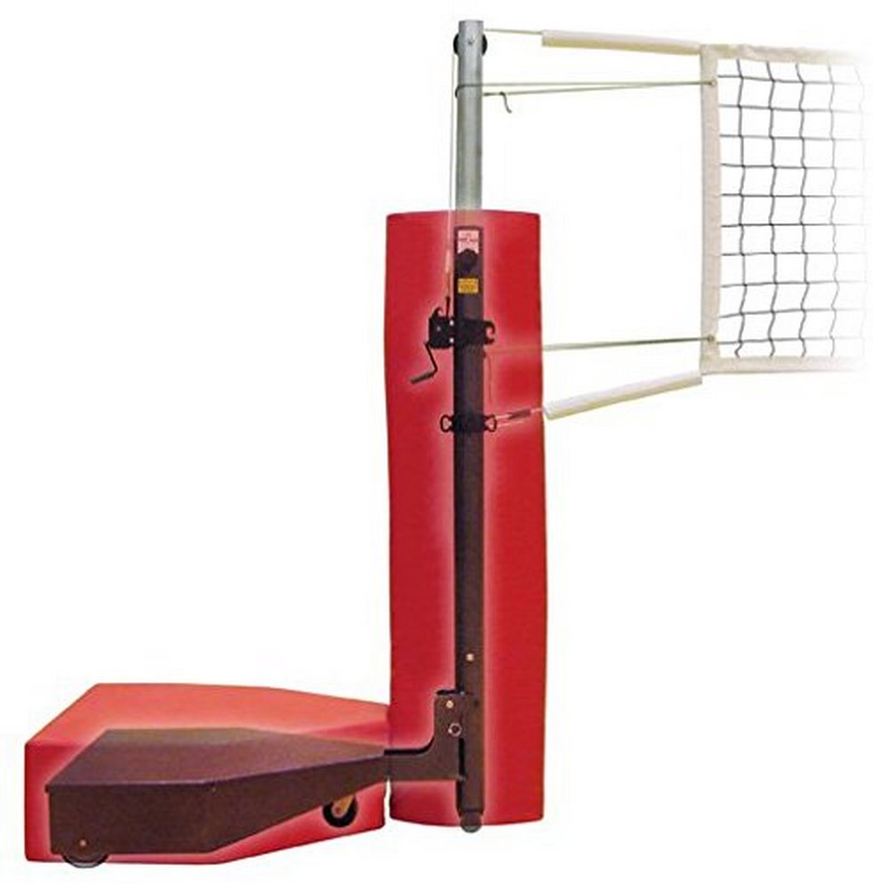 First Team Horizon Complete Steel Competition Portable Volleyball System44; Gold