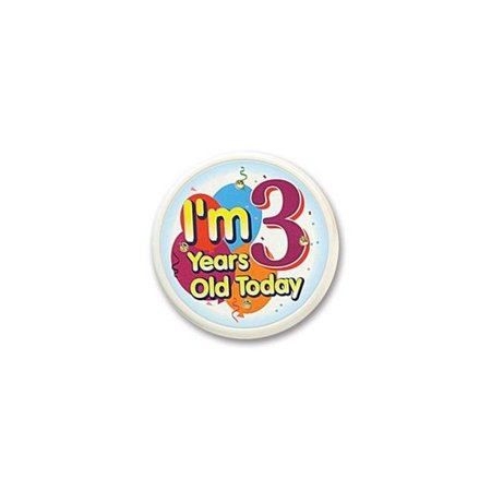Beistle FB53 I am 3 Years Old Today Flashing Button - Pack of