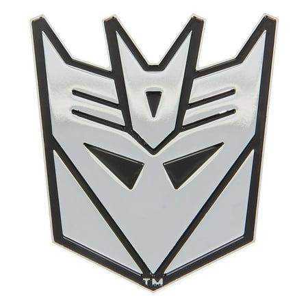 Chrome Emblem, Autobot Novelty Adhesive Decepticon Transformer Emblem For Trucks