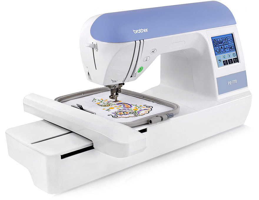 Brother PE770 (PE 770) Embroidery Machine w  USB Flash Port and Elipse 4-Hoop Embroidery Package w  Embroidery... by Brother Industries, Ltd