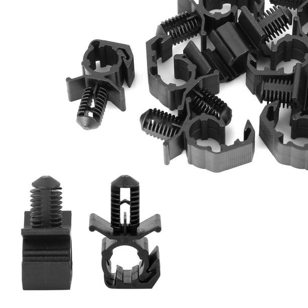 10pcs 22.8mm Black Plastic Car Auto Wiring Harness Moulding Retainer Clip  for Ford - Walmart.com - Walmart.comWalmart.com