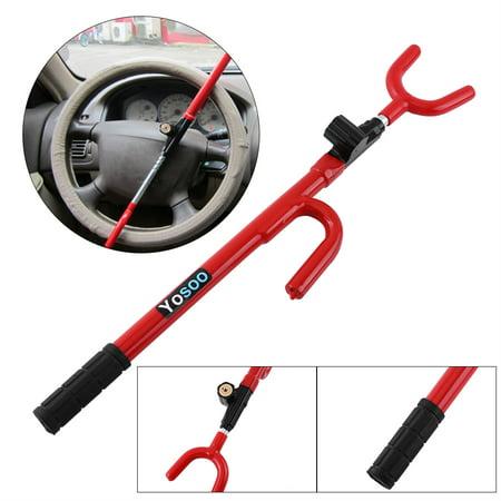 WALFRONT Steering Wheel Lock,New Universal Auto Car Anti-Theft Security System Steering Wheel Lock SUV
