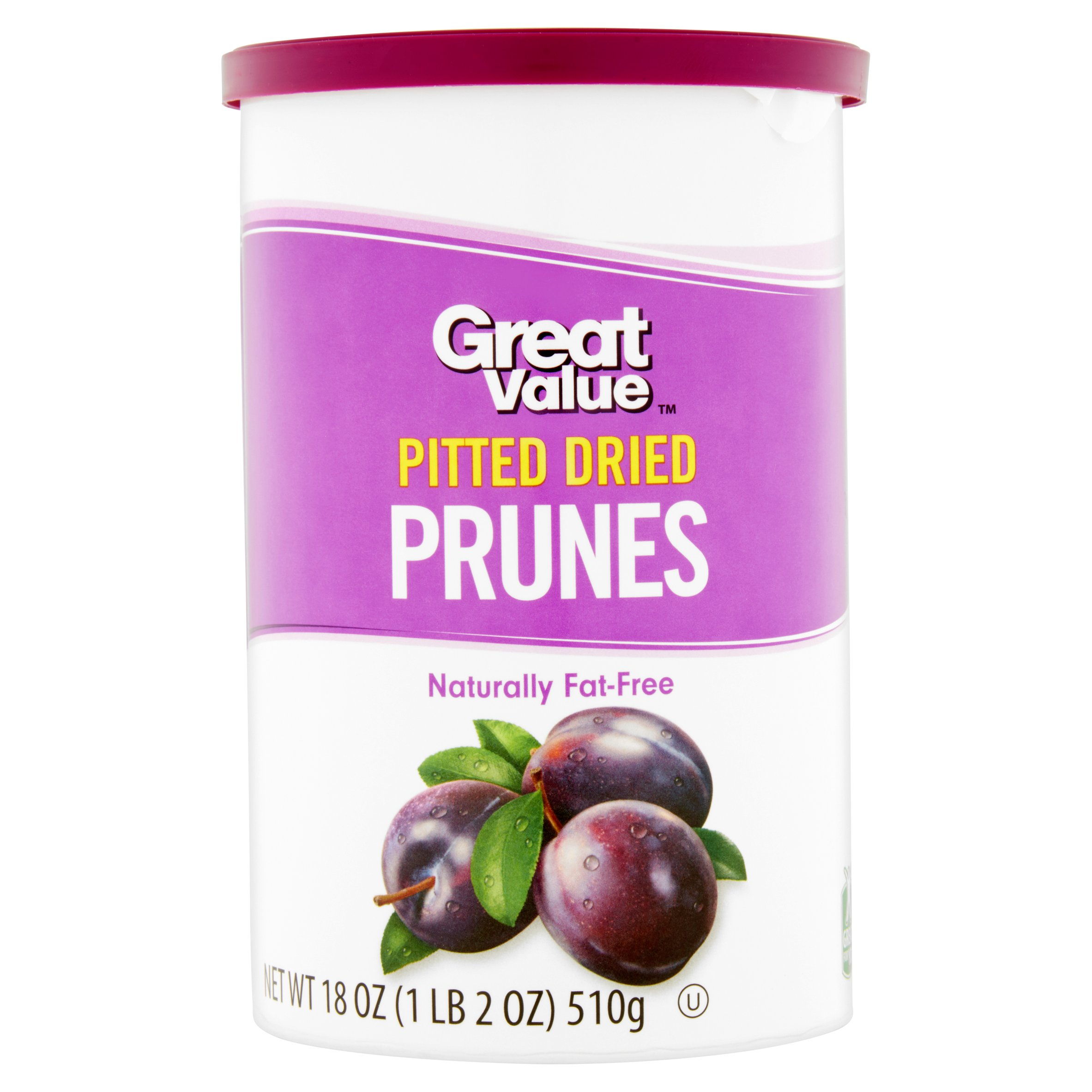 Great Value Pitted Dried Prunes, 18 oz