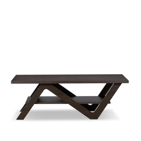 ACME Fakes Rectangle Coffee Table in Espresso with 1 Shelf