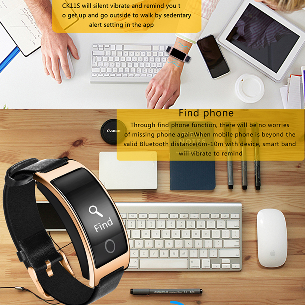 CK11S Smart Bluetooth Bracelet Blood Pressure Heart Rate Monitor Wrist Watch Fitness Tracker Pedometer Wristband