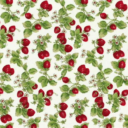 Rose And Hubble Strawberries Quilting Cotton Fabric By The Yard d900ba40c