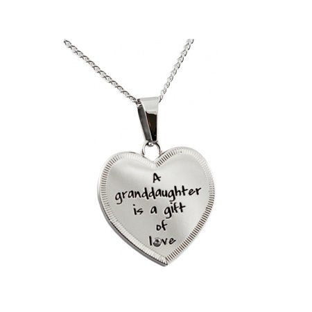 A Granddaughter Is A Gift Of Love Heart Pendant With (Granddaughter Gift)