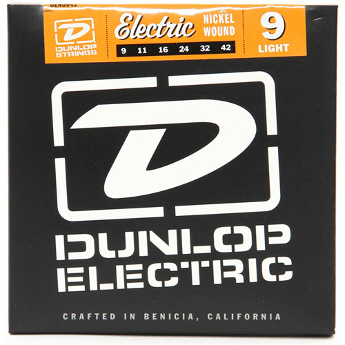 Dunlop DEN0942 Nickel-Plated Steel Light Electric Strings, .009-.042