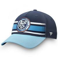 New York City FC Fanatics Branded Iconic Adjustable Hat - Navy/Sky Blue - OSFA