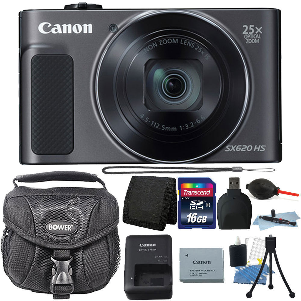 Canon PowerShot SX620 HS 20.2MP 25X Zoom WIFI Digital Camera with 16GB Accessory Kit