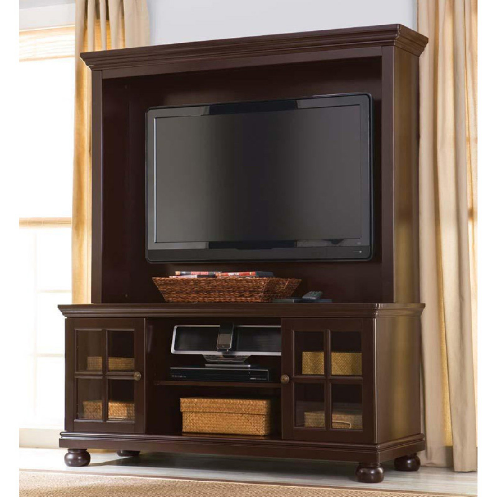"Better Home and Gardens 50"" Flat Screen TV Stand with Hutch, Espresso"