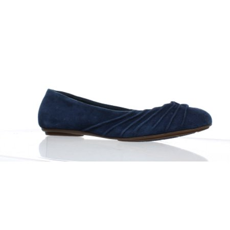 Hush Puppies Womens Zella Chaste Navy Suede Ballet Flats Size - Hush Puppies Shoes For Women