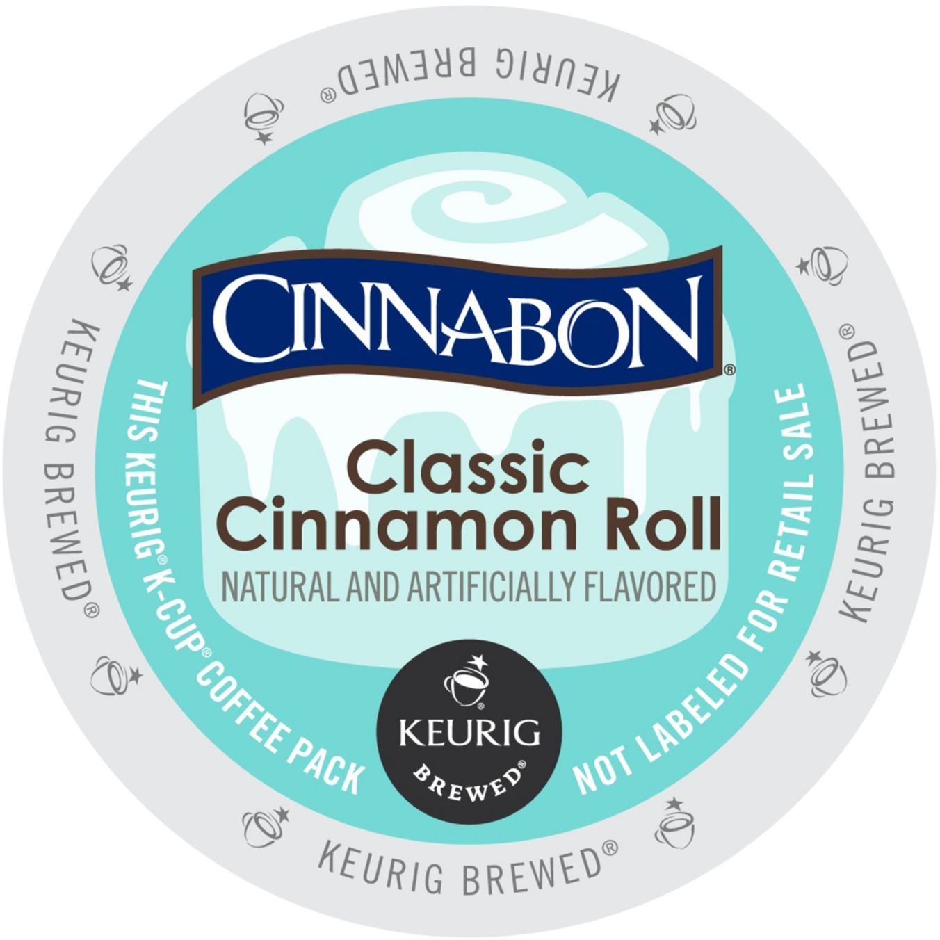 Cinnabon Classic Cinnamon Roll Coffee, K-Cup Portion Pack for Keurig Brewers (96 Count) (4x16oz)