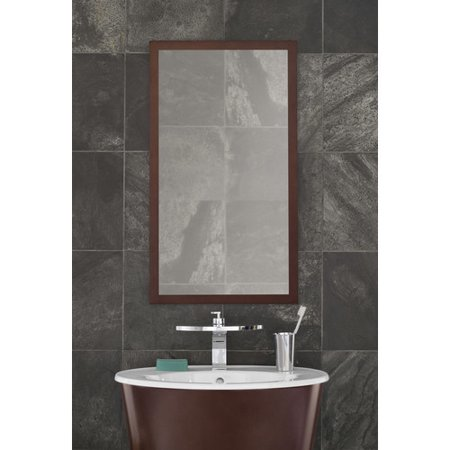 Ronbow Contemporary Solid Wood Framed Bathroom Mirror in ...