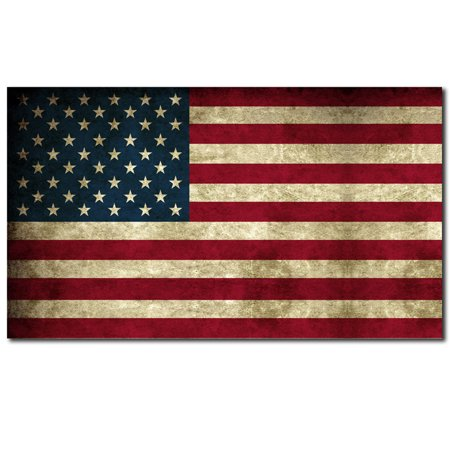 American Flag Distressed Aged Bumper Sticker Decal