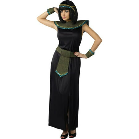 Midnight Cleopatra Adult Halloween Costume - One Size - Cleopatra Costume For Child