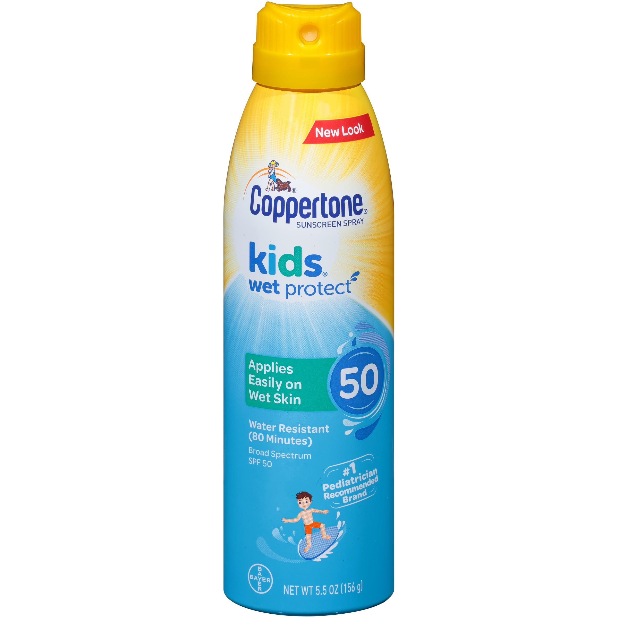 Coppertone Kids Sunscreen Wet Protect Spray SPF 50, 5.5 oz