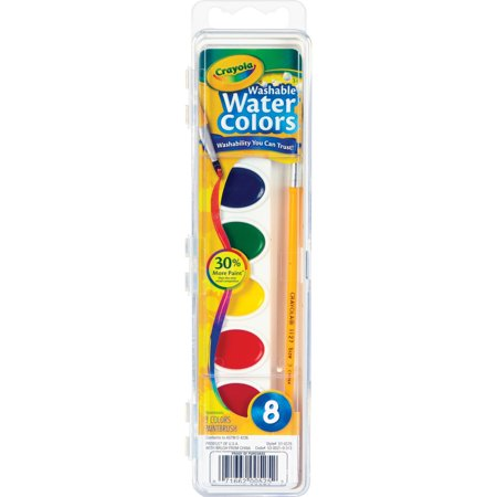 Crayola 8 Count Watercolor Paint Pans Pack Of 4 Walmart Com