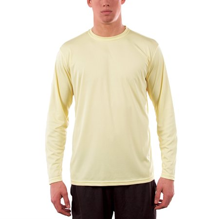 Vapor Apparel Men's UPF 50+ UV (Sun) Protection Performance Long Sleeve T-Shirt (Seal Brown Apparel)
