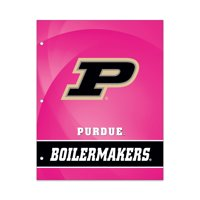 NCAA Purdue Boilermakers 2 Pocket Portfolio, Three Hole Punched, Fits Letter Size