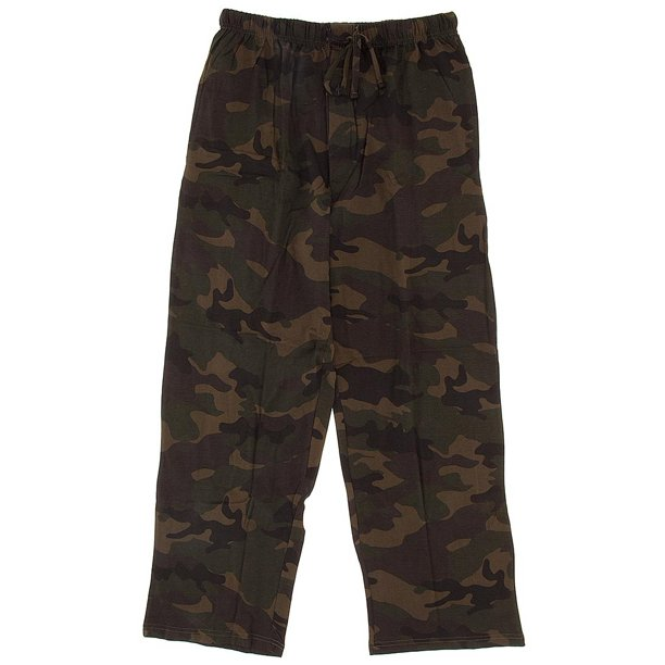 Green Woodland Camouflage Pajama Men's Pants
