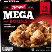 Banquet Mega Bowls Frozen Meal Country Fried Chicken 14 Ounce