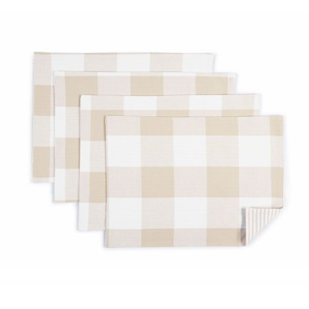 Better Homes & Gardens Farma Placemat, 4 Pack, Papyrus Beige, 14