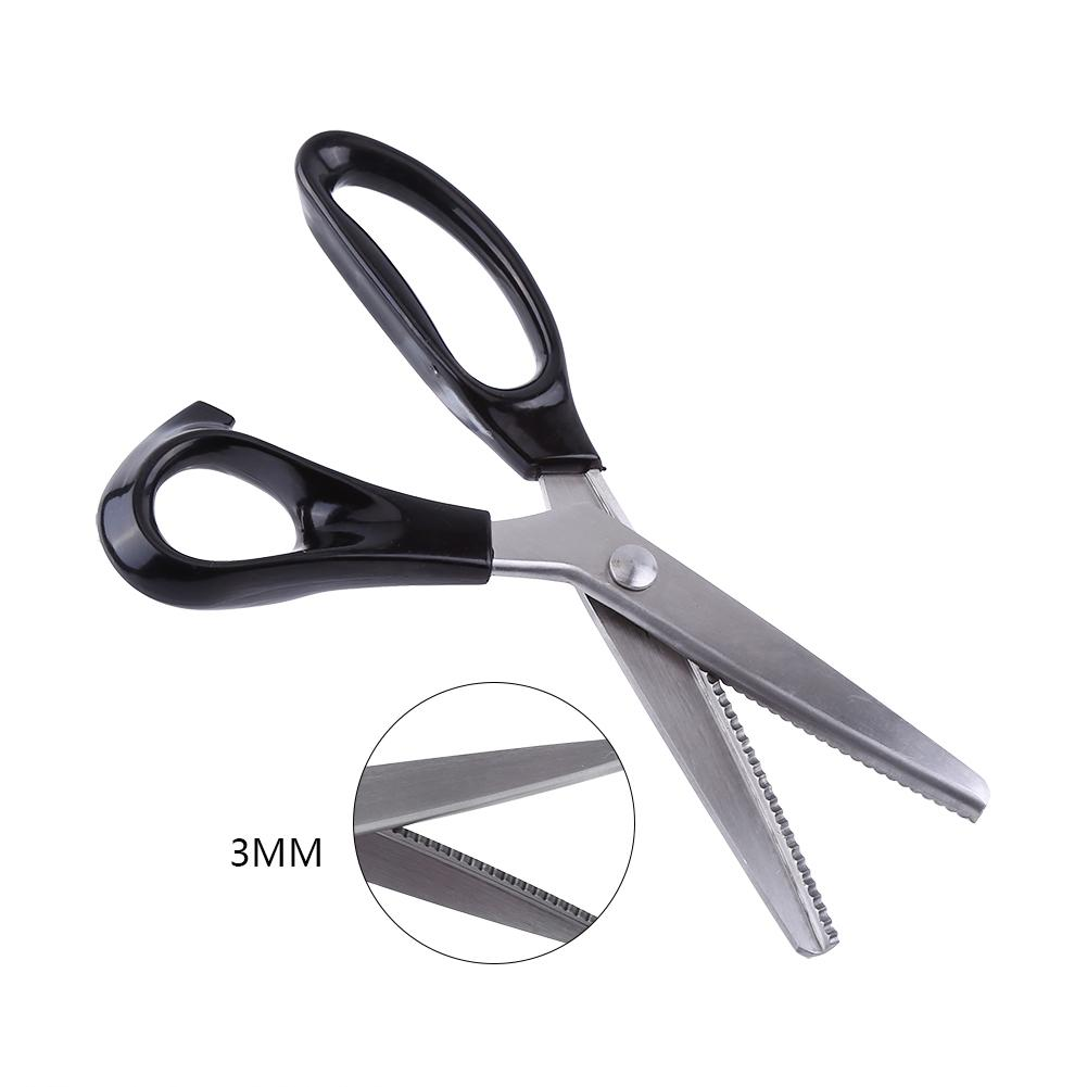 Akozon Fabric Decorative Round/Triangle Edge Pinking Shears Scissors Clipper 3 5 7mm,Pinking Shears,3 5 7mm