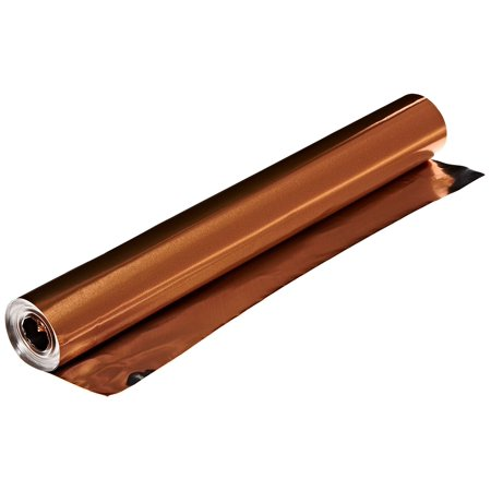- 38 Gauge Aluminum Foil - 12 Inches x 25 Feet - Copper Roll Only, Quantity one roll By St Louis Crafts