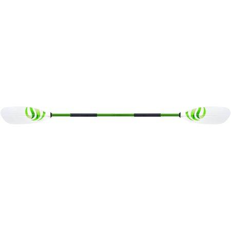 Propel Paddle Gear Motion Kayak Paddle, 96u0022, Green & White