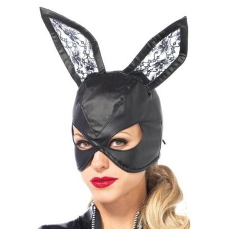 Leg Avenue Women's Bunny Mask Costume Accessory, Black, One Size - Black Bunny Mask