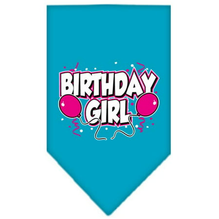 Print Bandanas (Birthday girl Screen Print Bandana Turquoise)