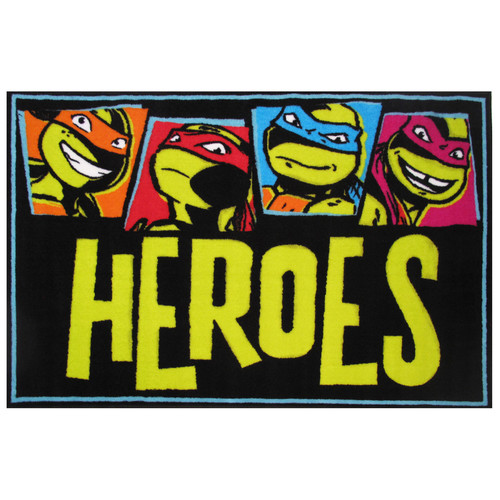 "Fun Rugs Nickelodeon Ninja Turtles Heroes Kids Rugs 19"" x 29"" Rug"