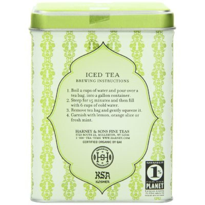 Harney & Sons Green Iced Tea, Organic Citrus Ginko, 6 Tea Bags by