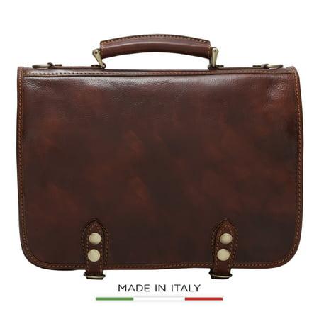 Alberto Bellucci Italian Leather Comano Double Compartment Messenger Satchel Bag in (Alberto Guardiani Leather)