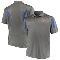 New York Mets Majestic Contract Polo - Charcoal/Royal