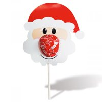 Santa Christmas Lollipop Holders- Set of 24, Holiday Party Favors, Stocking Stuffers