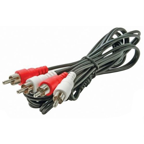 Steren Electronics BL-265-603BK Steren BL-265-603BK Premium Stereo Audio Patch Cable - Patch Cable - 3 ft - 2 x RCA Stereo Audio - Shielding - Black