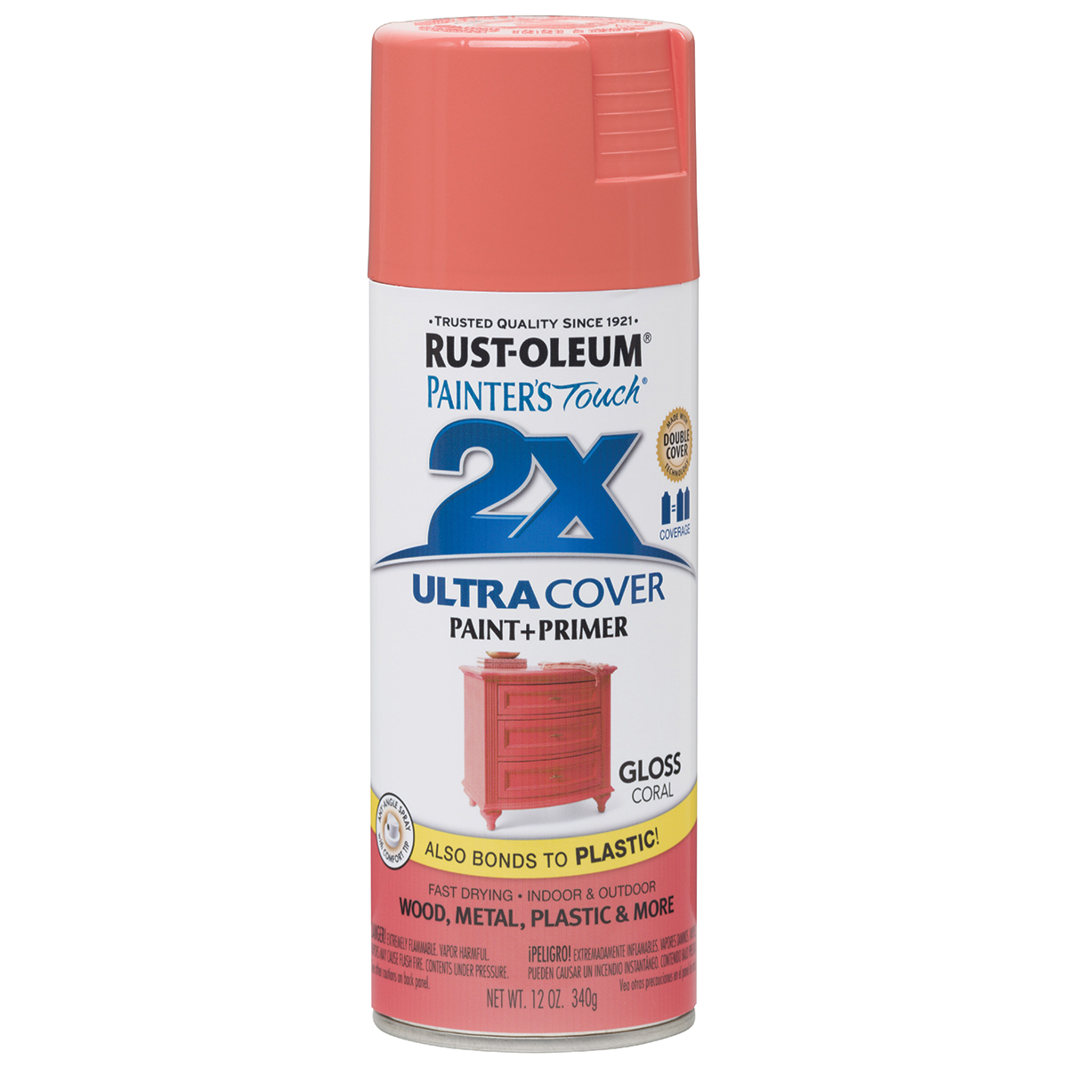 Painter's Touch Ultra Cover Gloss Aerosol Paint 12oz-Coral
